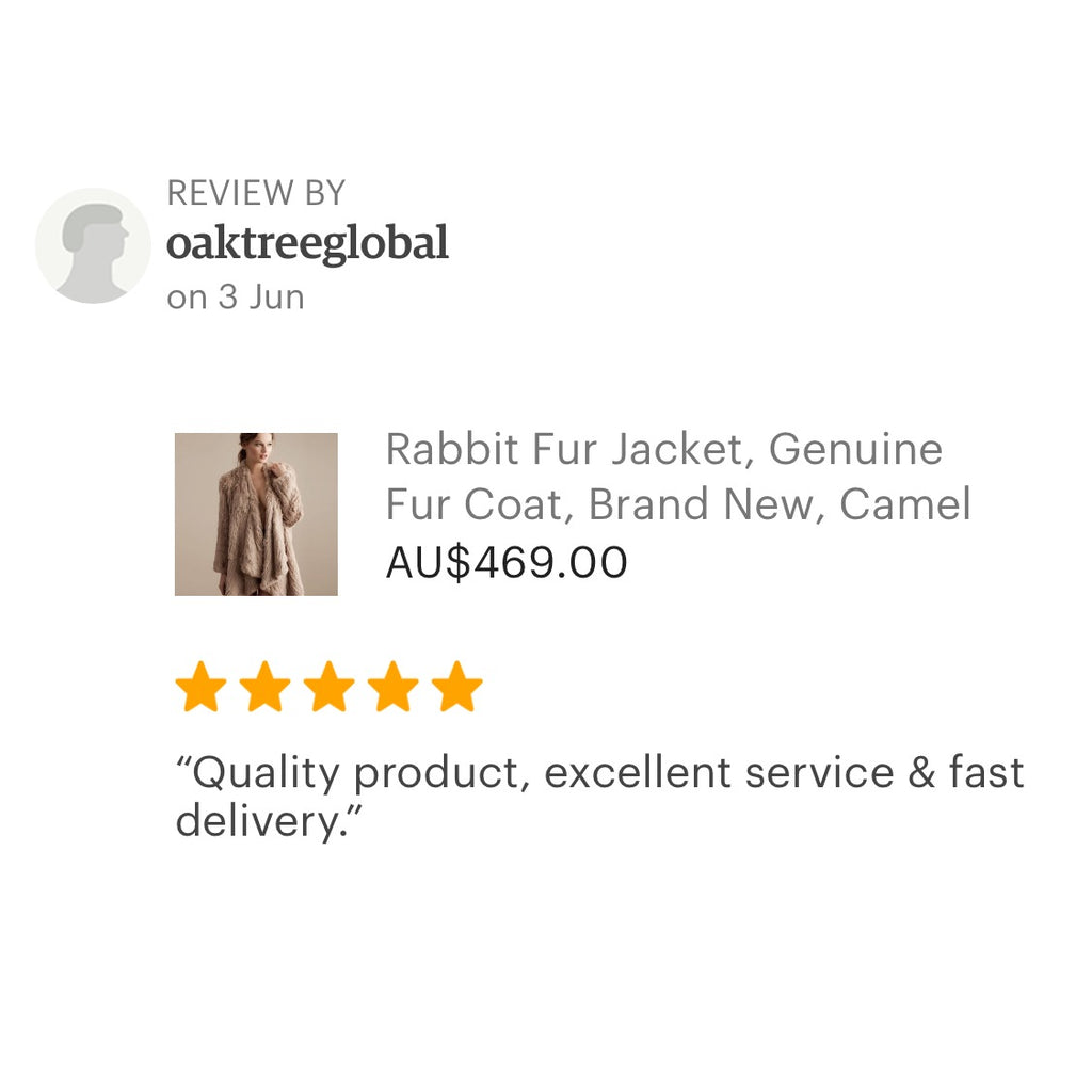 Kitty Kat 5 Star Review Rabbit Fur Jacket