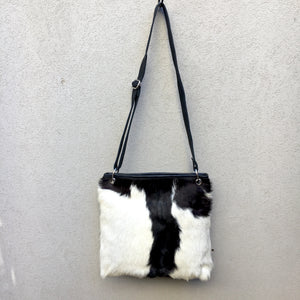 Azahara Leather and Lambs Fur Crossbody Satchel Bag, Bag - KITTY KAT,