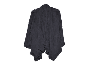 Klara Black Rabbit Fur Jacket - KITTY KAT
