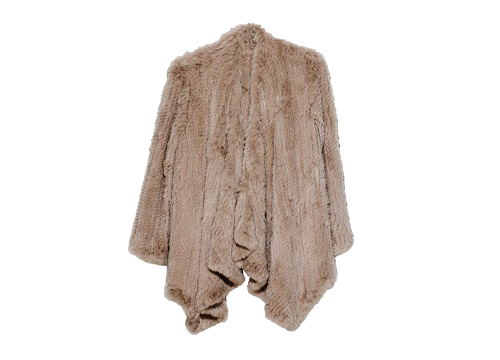 Klara Rabbit Fur Jacket - Camel