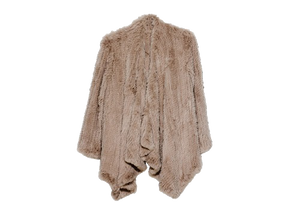 Klara Rabbit Fur Jacket - Camel, Rabbit Fur Clothing - KITTY KAT,