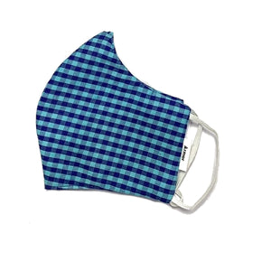 Unisex Checked Organic Cotton Washable Face Masks, Face Mask - KITTY KAT,