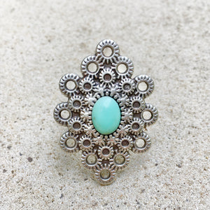 Indi Boho Turquoise Ring, Ring - KITTY KAT,