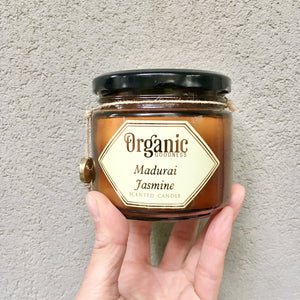 Jasmine Essential Oil Infused Organic Soy Candle, Candle - KITTY KAT,