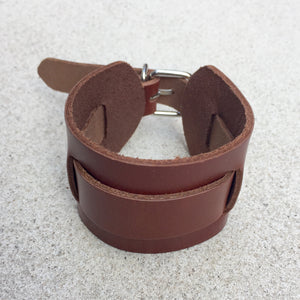 John Tan Leather Mens Buckle Cuff, Cuff - KITTY KAT,