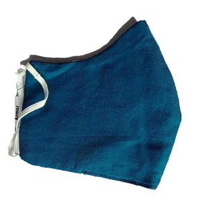 Unisex Solid Teal Green Blue Organic Cotton Washable Face Masks, Face Mask - KITTY KAT,