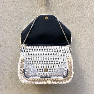 Tiana Bohemian Fringed Coin Festival Clutch Bag, Clutch Bag - KITTY KAT,