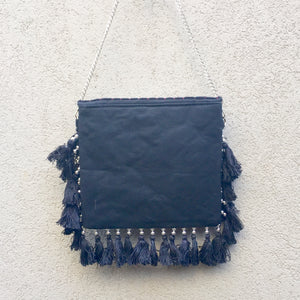 Jayne Bohemian Black Fringed Festival Clutch Bag, Clutch Bag - KITTY KAT,