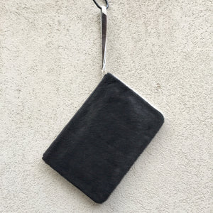 Kendal Reversible Cowhide Clutch Bag - Black White, Clutch Bag - KITTY KAT,