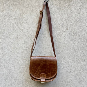 Kiki Distressed Leather Crossbody Bag - KITTY KAT