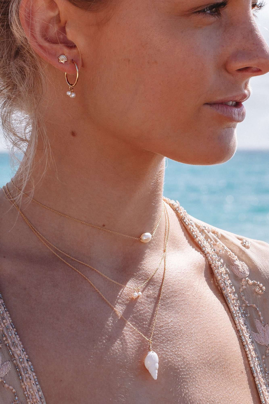 Single Pearl Choker/Necklace, Necklace with  by Lunarsea Designs