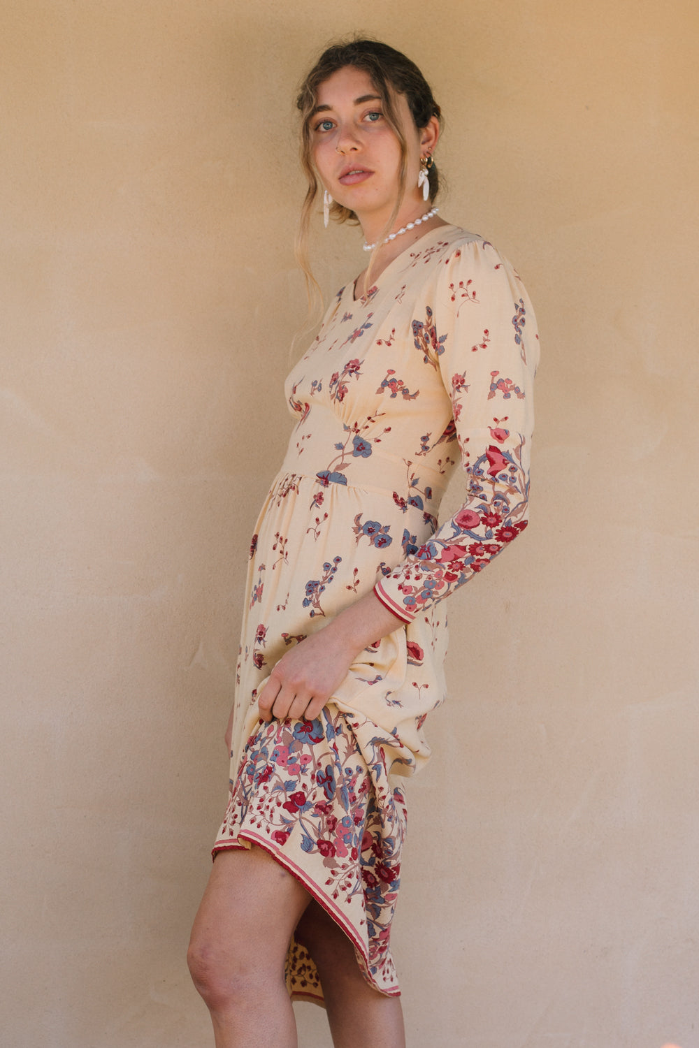 Dress - Seventies Butter Yellow Floral