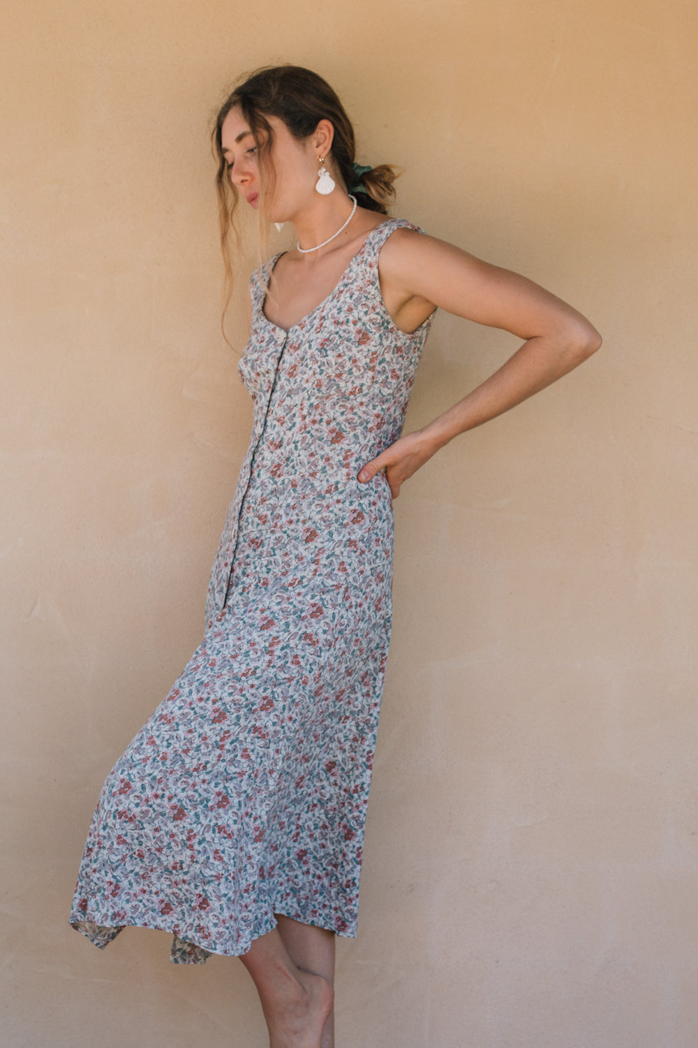Dress - Nineties Floral Button