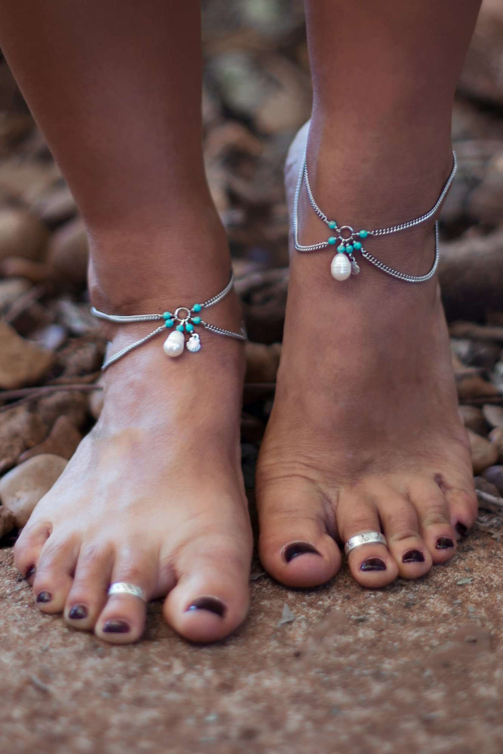 Pearl & Scallop Shell Anklet, Anklet with  by Lunarsea Designs