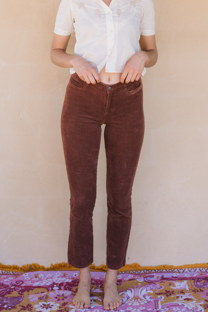 Pants - Brown Corduroy