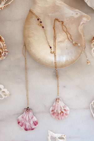 Gold Fill Scallop Shell Necklace, Necklace with  by Lunarsea Designs