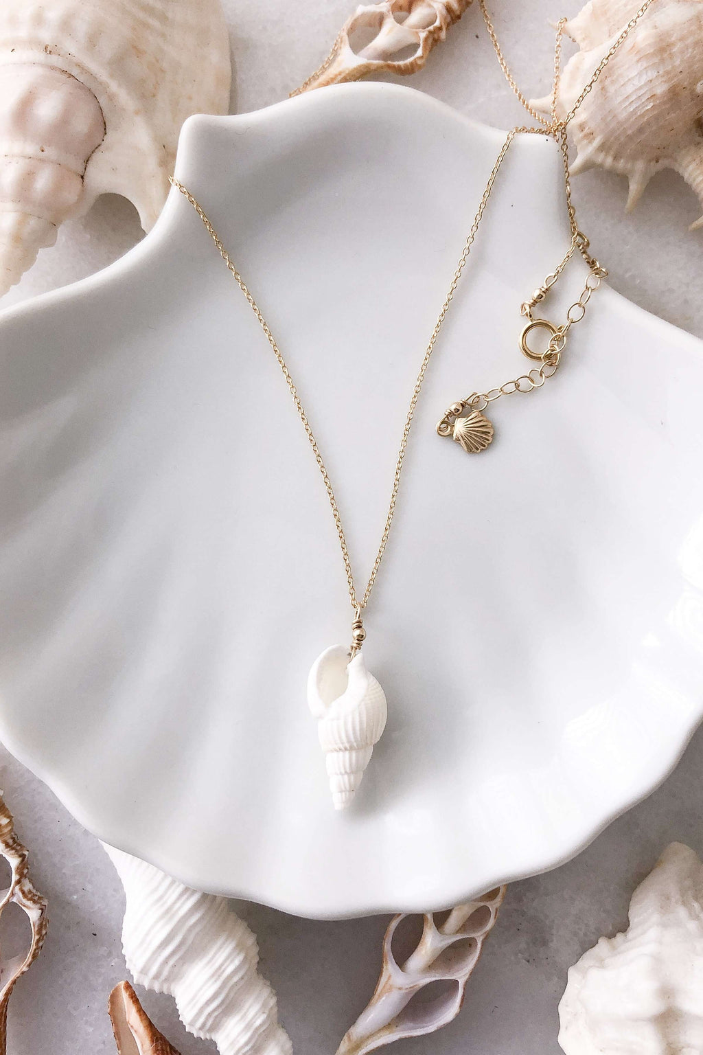 Cone Shell Necklace - Gold Fill, Necklace with  by Lunarsea Designs