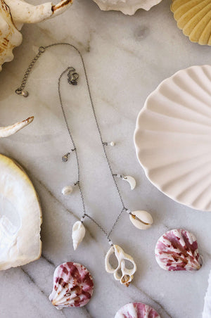 Adrift Shell Necklace, Necklace with  by Lunarsea Designs