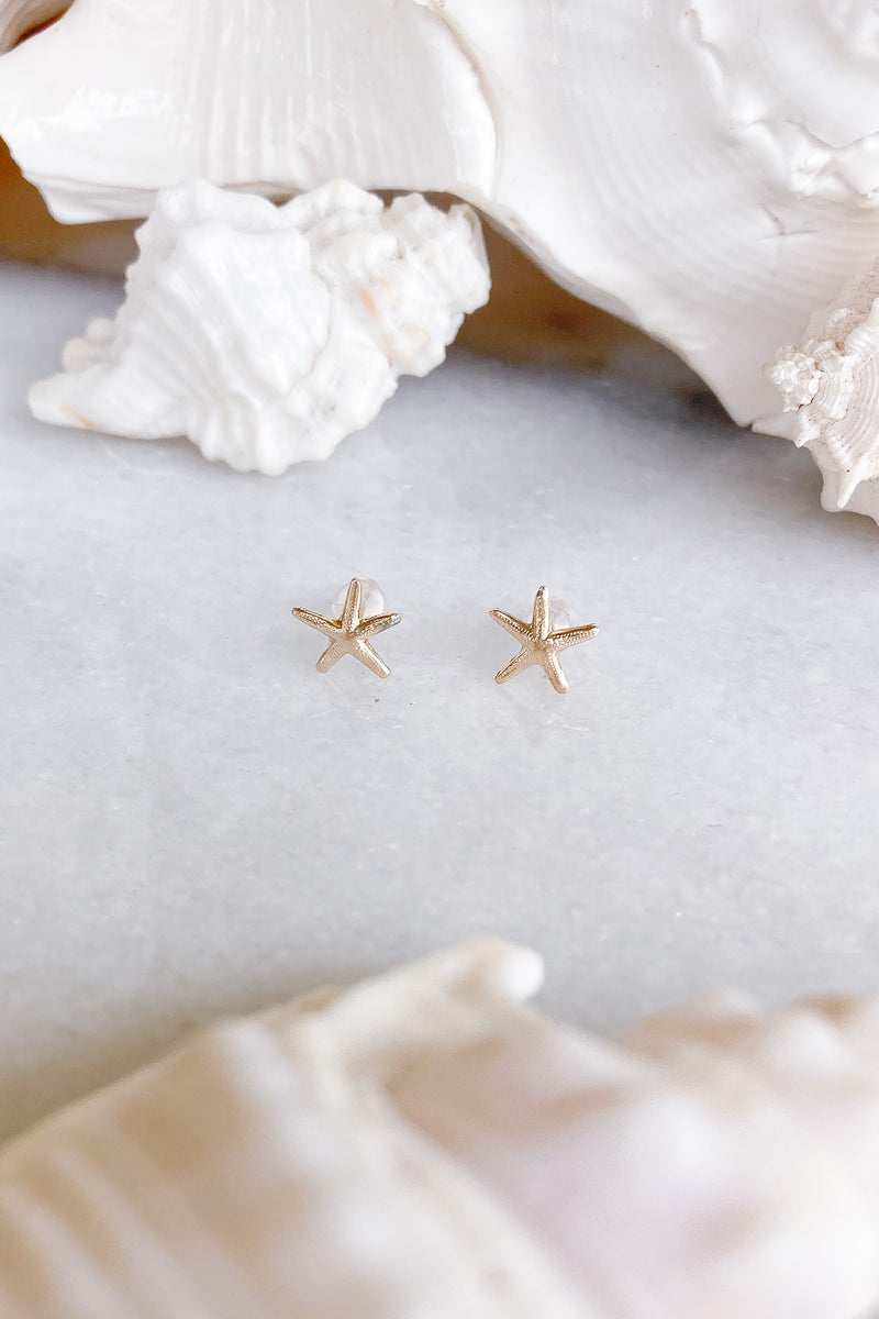 starfish gold filled studs
