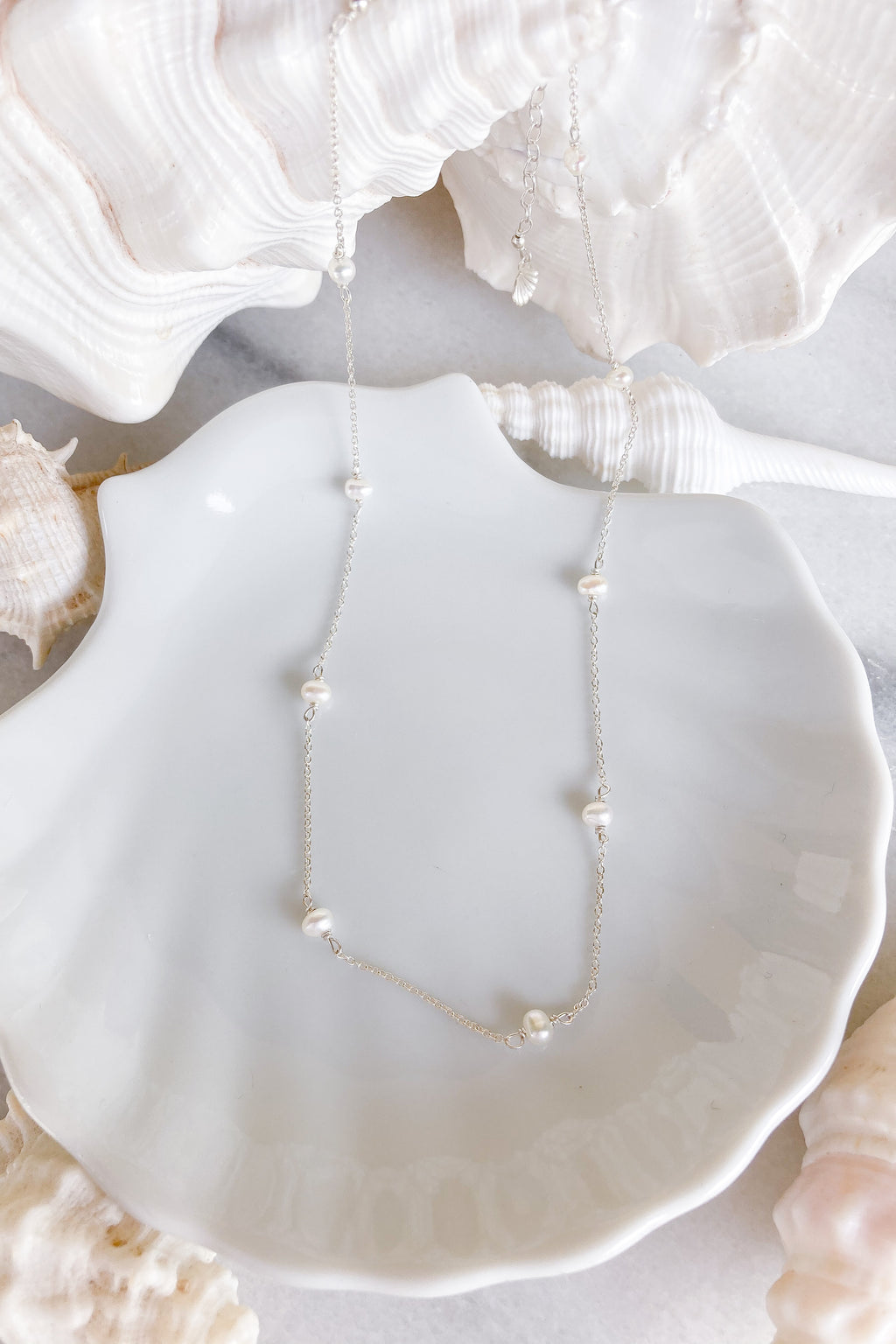 Pearl Chain Choker - Sterling Silver