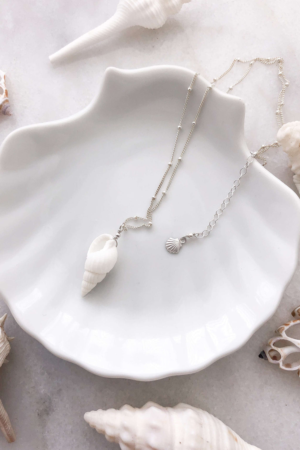 Cone Shell Satellite Necklace - Silver, Necklace with  by Lunarsea Designs
