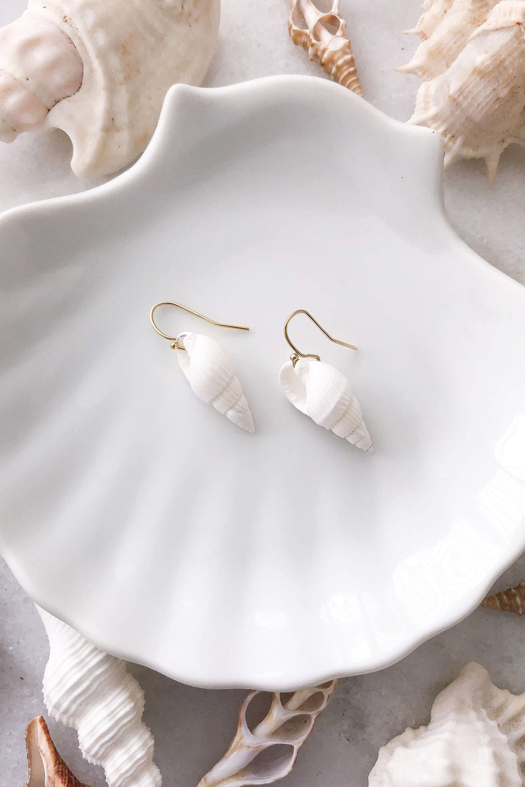 Gold Fill Cone Shell Earrings, Earrings with  by Lunarsea Designs