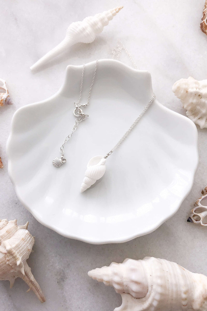 Cone Shell Necklace - Silver, Necklace with  by Lunarsea Designs