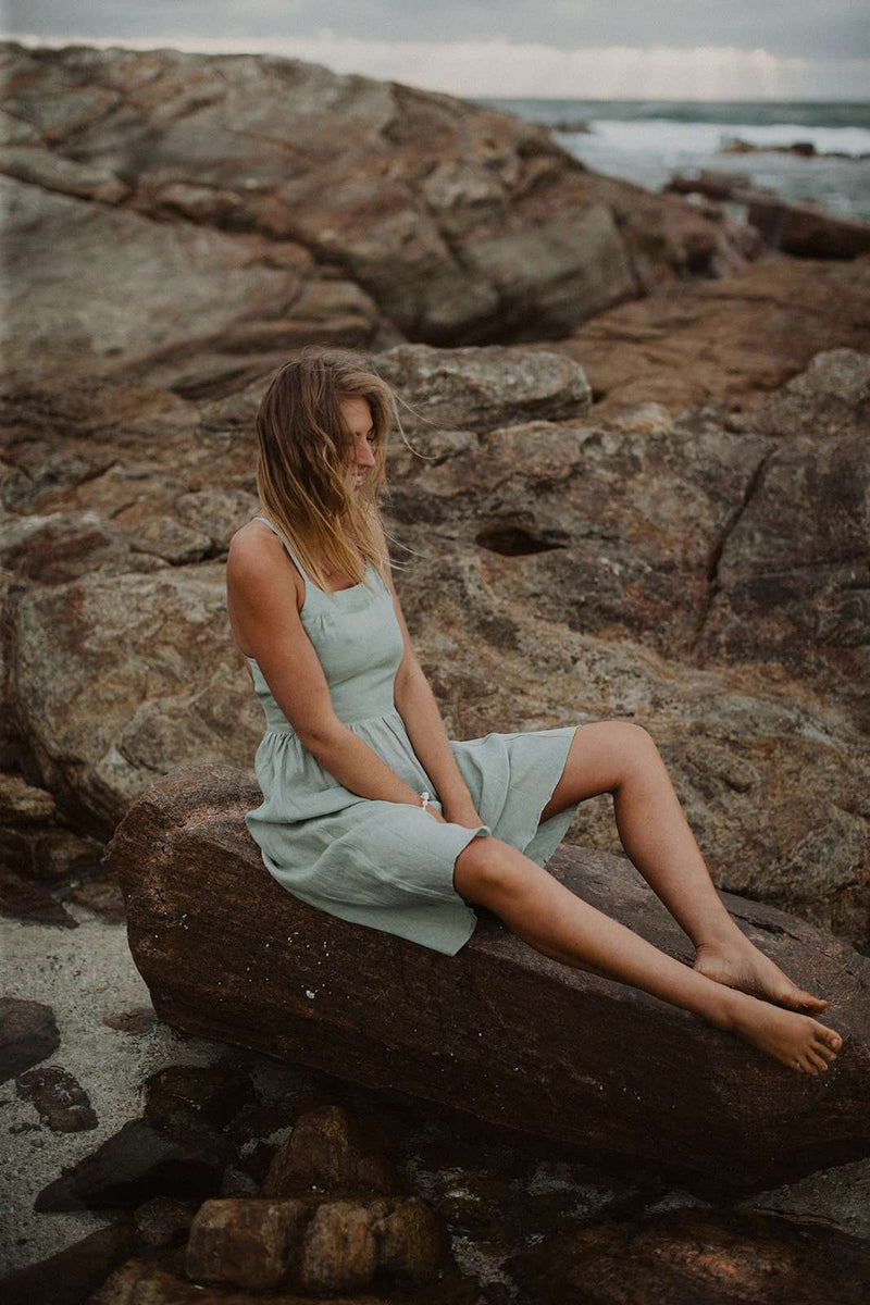 The Dress - Mint Linen