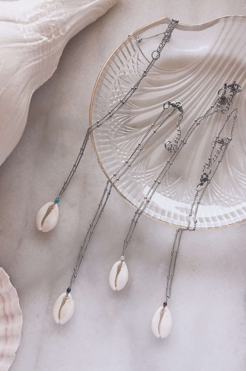 Cowrie Drifter Satellite Chain Necklace, Necklace with  by Lunarsea Designs
