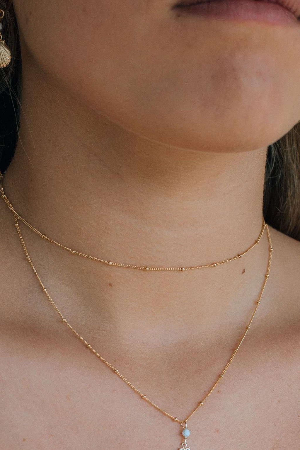Gold Fill Satellite Choker, Necklace with  by Lunarsea Designs