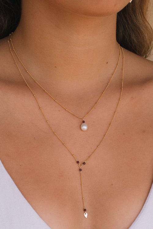 Gold Fill Pearl Satellite Necklace, Necklace with  by Lunarsea Designs