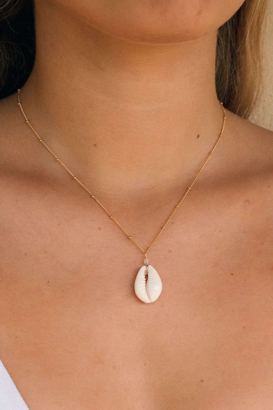 Gold Fill Cowrie Satellite Necklace, Necklace with  by Lunarsea Designs