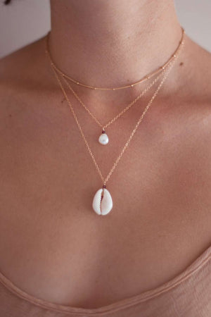 Pre-Order Gold Fill Cowrie Necklace, Necklace with  by Lunarsea Designs