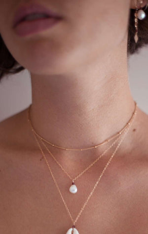 PRE-ORDER Gold Fill Pearl Necklace, Necklace with  by Lunarsea Designs