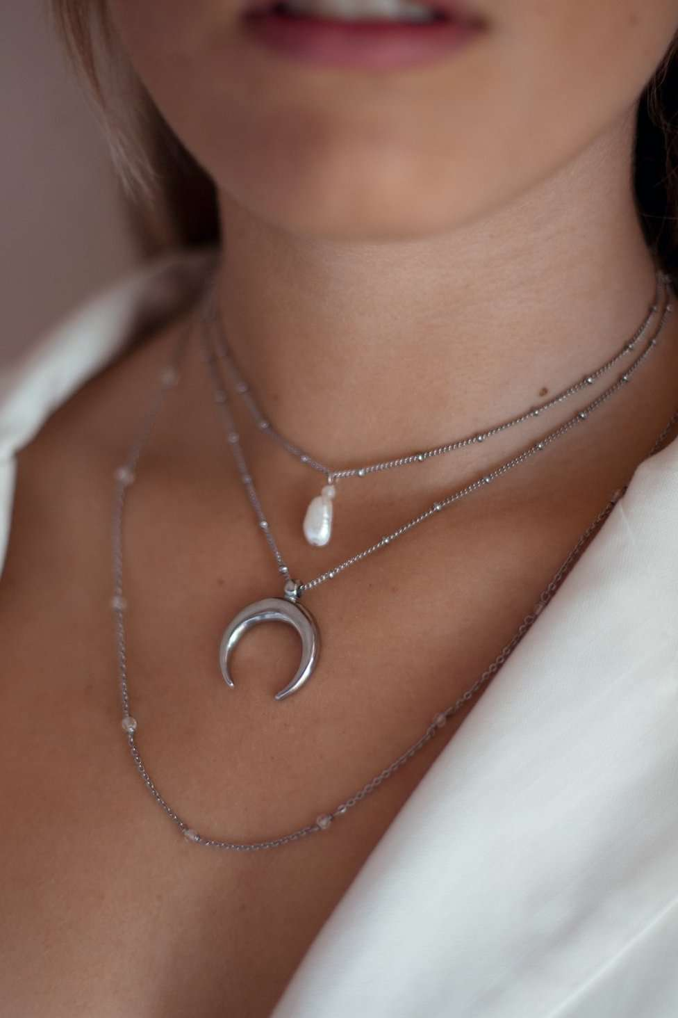 Pearl Drifter Satellite Chain Necklace, Necklace with  by Lunarsea Designs