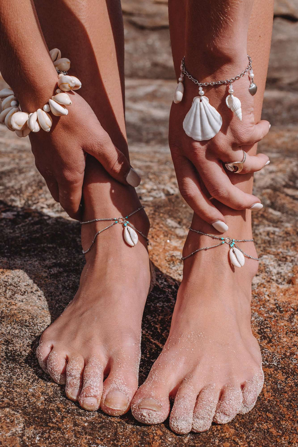 Cowrie & Scallop Anklet,  with  by Lunarsea Designs
