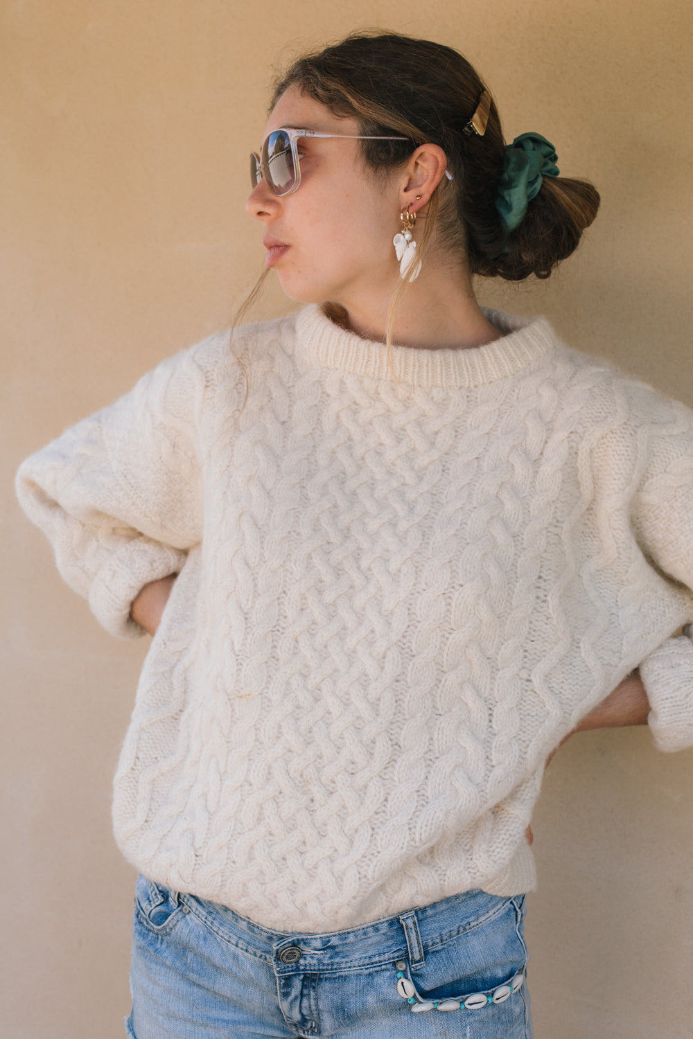 Sweater - Cream Cable Knit