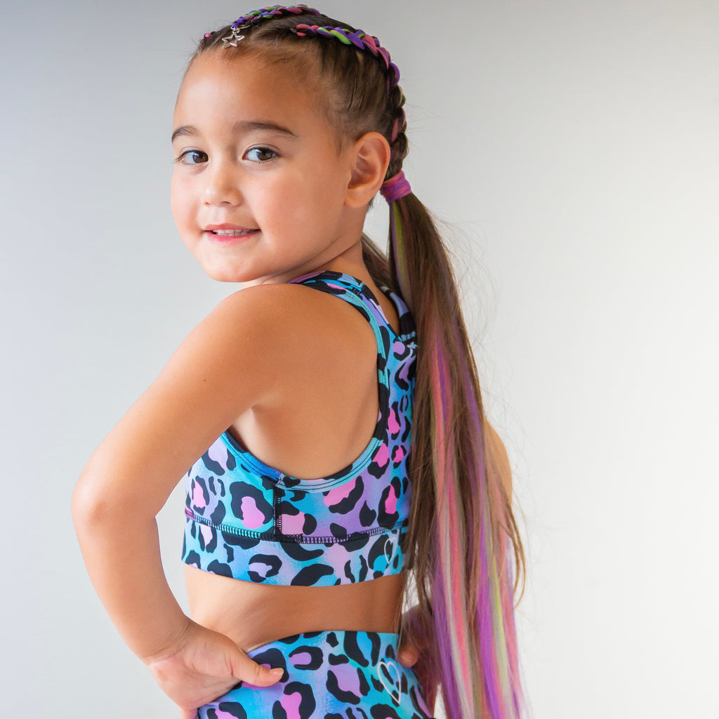 KIDS PURPLE WILD THING CROP - PRE ORDER