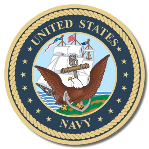 US Navy USA sticker decal white gloss high grade vinyl
