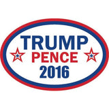 "Trump Pence 2016 bumper sticker label decal 6x4"" white gloss premium vinyl"