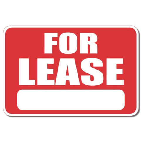 For Lease bumper sticker decal white matte high grade vinyl