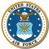 US Air Force USA sticker decal white gloss high grade vinyl