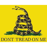 Gadsden Flag bumper sticker decal white gloss premium tread me vinyl