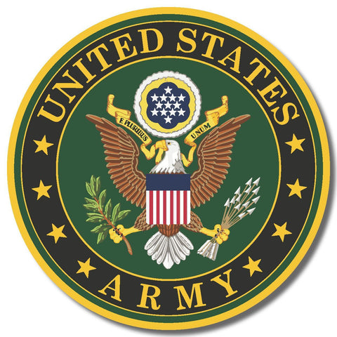 US Army USA sticker decal white gloss high grade vinyl