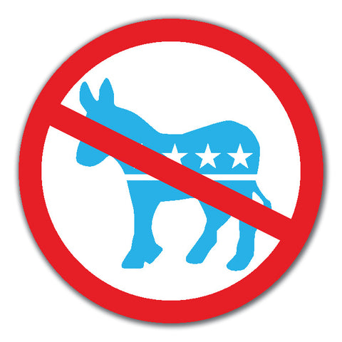 No Liberal Democrat Party Donkey Ban Access Anti Left decal sticker