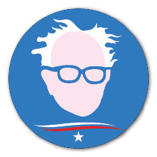 Round Bernie Sanders Star Swoosh Blue sticker decal