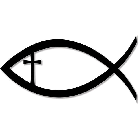 Christian Fish Jesus Christ Cross Faith Religion bumper sticker decal