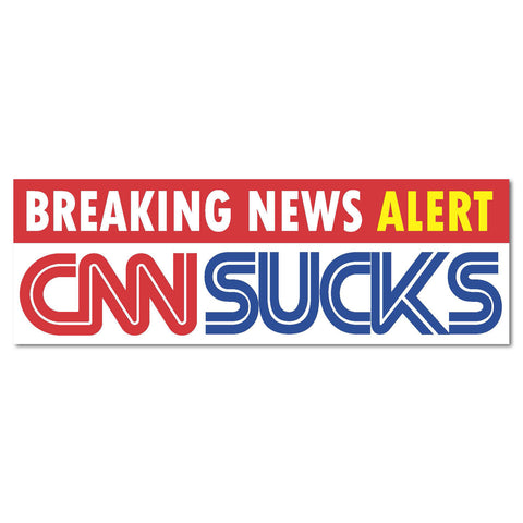 "CNN Sucks President Race Trump Clinton 2016 sticker decal sticker decal 9""x3"""