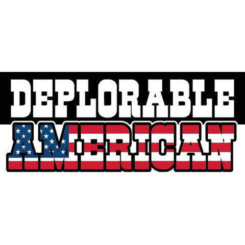 "Basket of Deplorables American Trump Clinton 2016 7""x3"" bumper sticker"