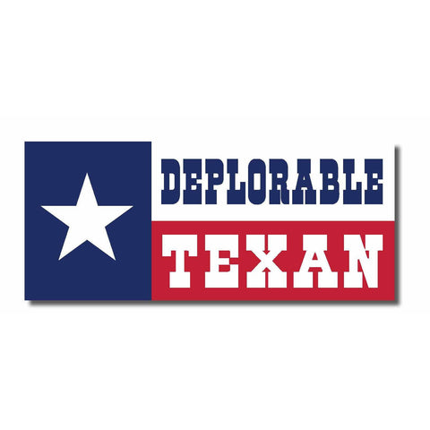 "Basket of Deplorables Texas Edition Trump Clinton 2016 7""x3"" bumper sticker"